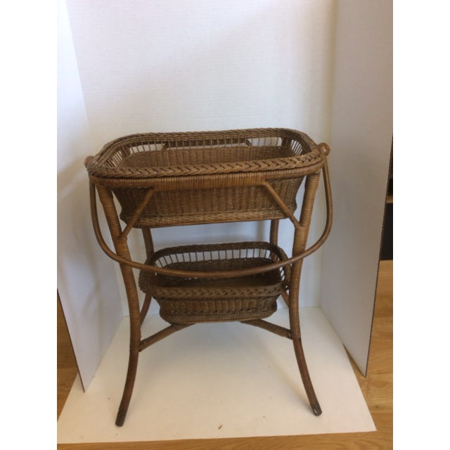 Rattan Basket Stand - Image 2 of 11