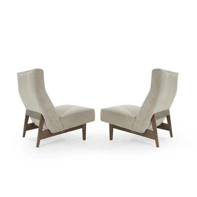 Jens Risom Classic Slipper Chairs by Jens Risom C. 1950s - a Pair For Sale - Image 4 of 12