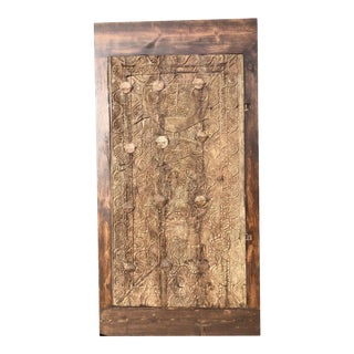 Antique Rustic Farmhouse Barndoor For Sale
