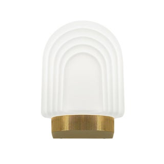 Art Deco Style Brass Bathroom Wall Light IP44 For Sale