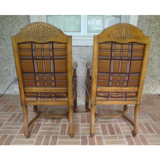 Vintage Carved French Country Armchairs - a Pair For Sale In Richmond - Image 6 of 10