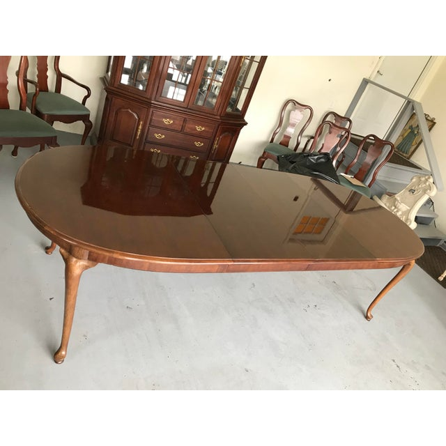 Ceramic 1970s Thomasville Queen Anne Dining Table For Sale - Image 7 of 13