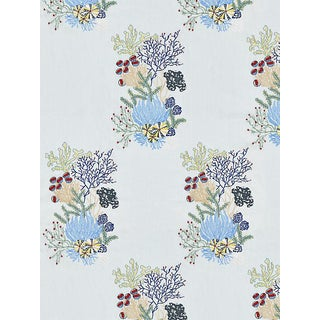Sample, Scalamandre Combe Martin, Azure Fabric For Sale