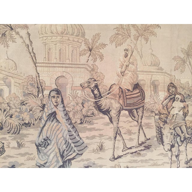 Tapestry With an 19th Century Orientalist Scene and Moorish Architecture For Sale In Los Angeles - Image 6 of 10