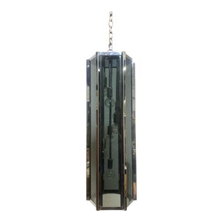 Mid Century Modern 7-Light Glass Chandelier by Fredrick Ramond For Sale