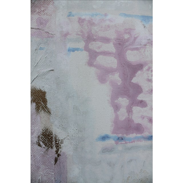 Lee Yoling Texture Oil and Watercolor Abstract Painting For Sale - Image 4 of 11