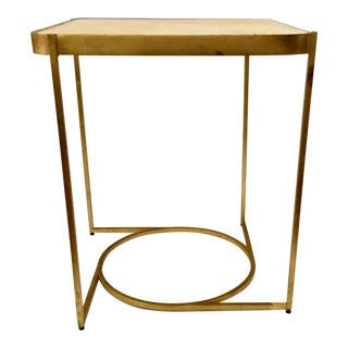 Modern Sherrill Occasional Gold and Marble Cashlin End Table For Sale