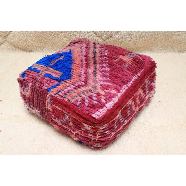 Vintage Moroccan Wool Pouf Cover For Sale - Image 13 of 13