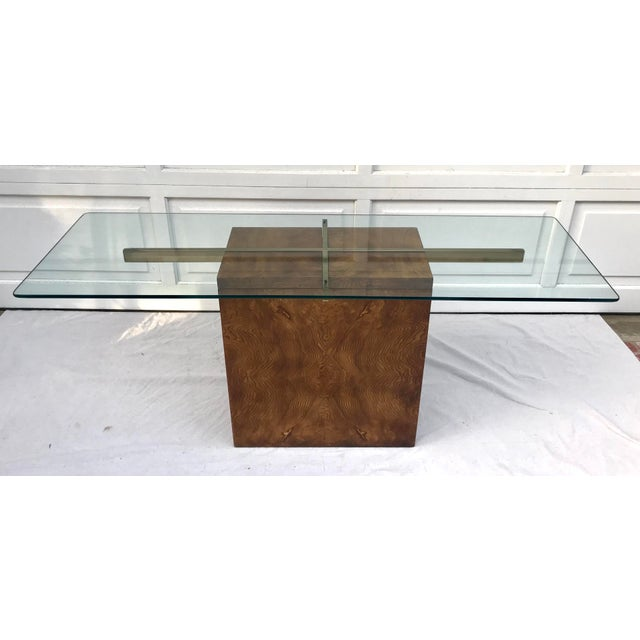 Vintage Lane Burl Wood Console Table For Sale - Image 12 of 12
