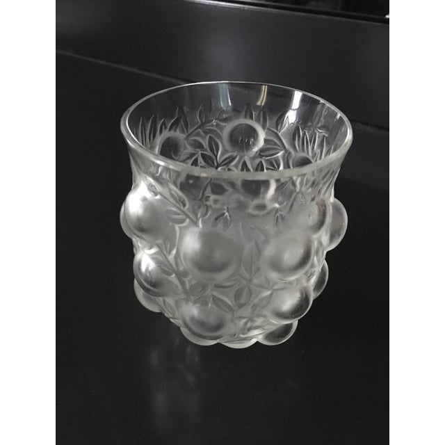 Signed R Lalique Bud Vase Chairish