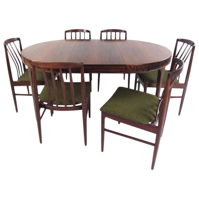 Mid-Century Modern Vamo Sonderborg Rosewood Dining Set For Sale