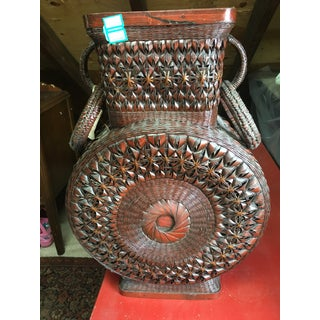 Asian Woven Urn Basket Preview