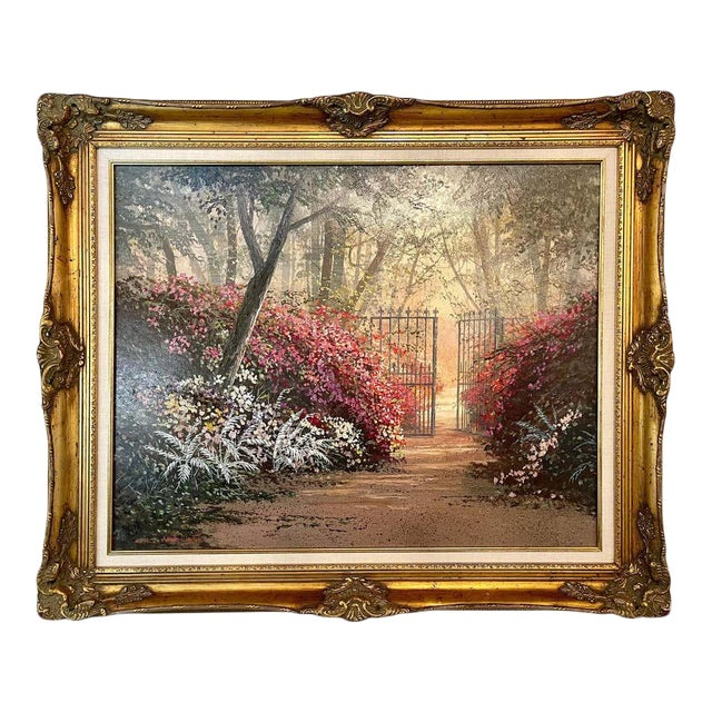 Juan Archuleta Gates and Garden Painting For Sale