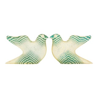 Palatnik Mid Century Modern Op Art Lucite Bird Sculptures - a Pair For Sale