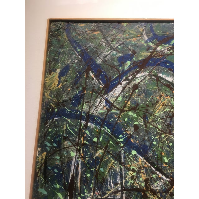 Abstract Expressionist Drip Glaze Style Painting For Sale - Image 12 of 13