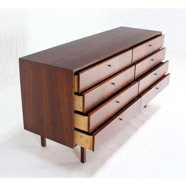 Mid-Century Danish Modern Walnut Long Dresser Credenza For Sale - Image 9 of 10
