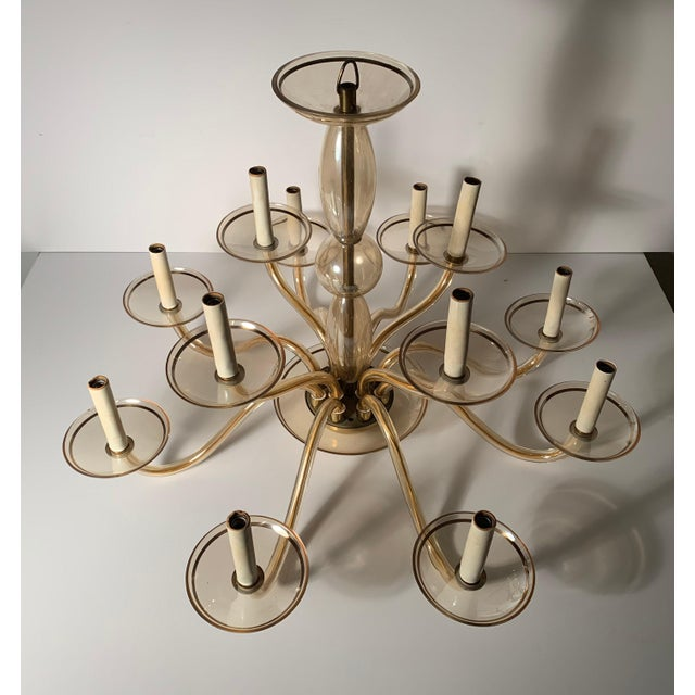 Beautiful Vintage Bohemian Crystal chandelier. In the manner of Murano Glass.