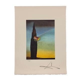 "Salvador Dalì ""Surrealist Essay"" Signed Limited Edition Surrealist Lithograph For Sale"
