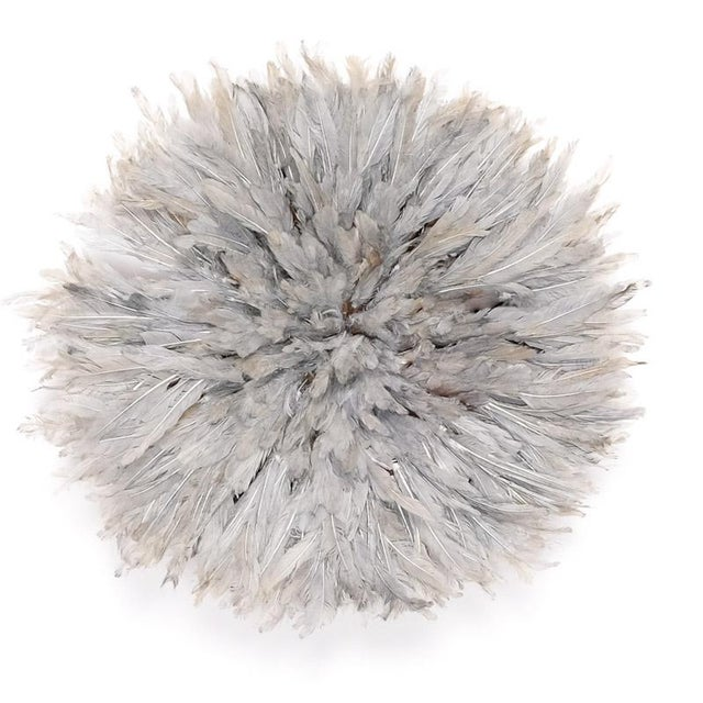 Modern Dip Dyed Feather Juju Hat For Sale - Image 3 of 3