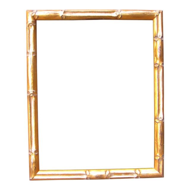 Gold Bamboo Picture Frame | Chairish