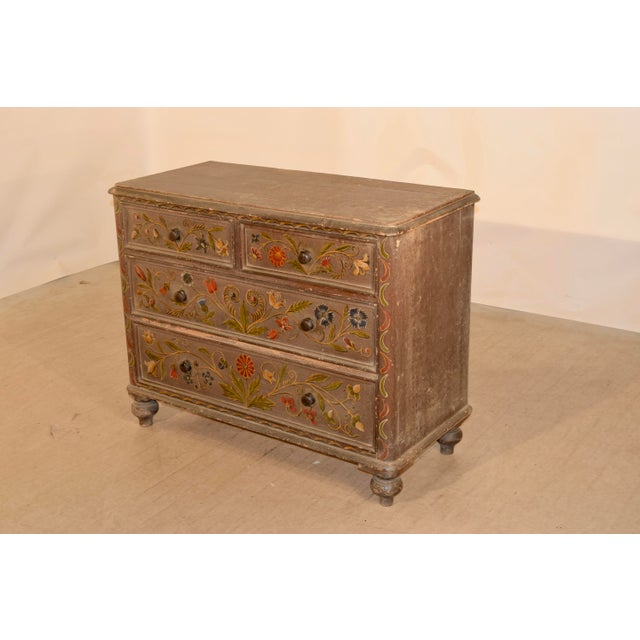 19th Century 19th Century Painted Chest of Drawers For Sale - Image 5 of 10