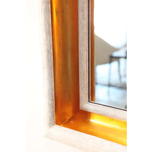 2010s Paul Marra Design Cove Mirror in Driftwood and Gold For Sale - Image 5 of 6