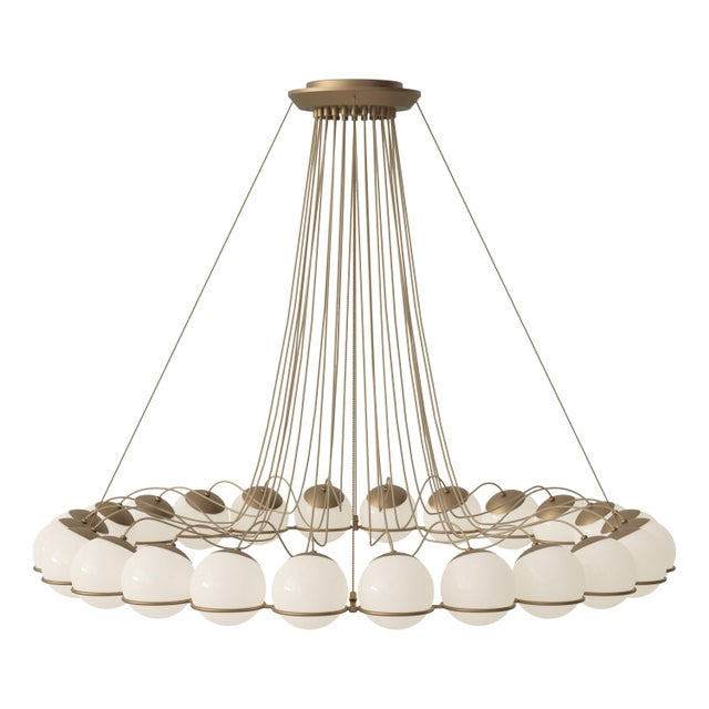 Not Yet Made - Made To Order Gino Sarfatti Model 2109/24/14 Chandelier For Sale - Image 5 of 5