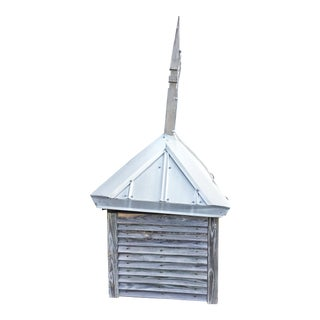 Vintage Large Wood Cupola with Aluminum Roof