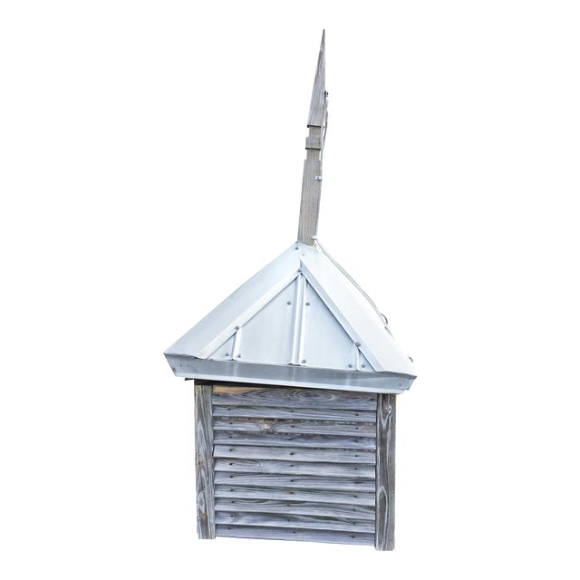Vintage Large Wood Cupola with Aluminum Roof For Sale