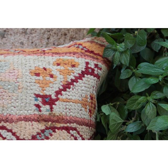 Vintage Turkish Oushak Pillow For Sale - Image 4 of 9