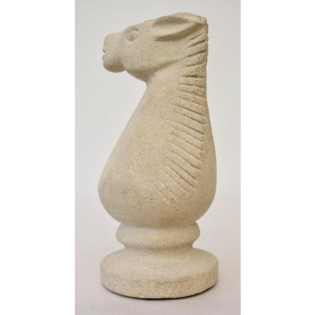Cast Stone Horse Sculpture - Image 5 of 6