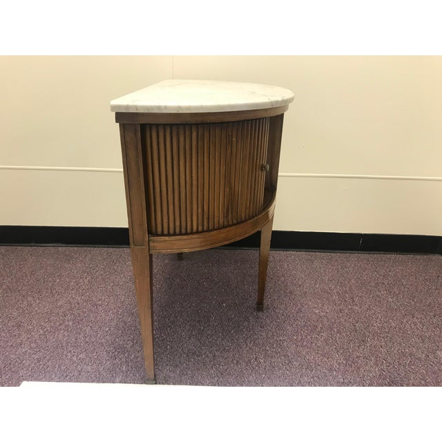 French 20th Century French Demi Table with Marble Top For Sale - Image 3 of 9