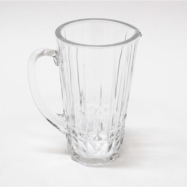Modern Val St. Lambert Crystal Pitcher For Sale - Image 3 of 5