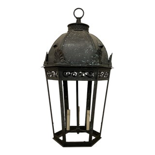 Early 20th Century Bronze and Copper Lantern For Sale