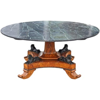 Early 19th Century Baltic Neoclassical Walnut Dining Table, Style of Thomas Hope For Sale