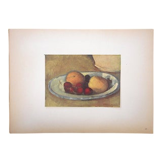 "Vintage Ltd. Ed. Post-Impressionist Lithograph-Paul Cezanne (Fr. 1839-1906)-""Abricots Et Cerises"" For Sale"