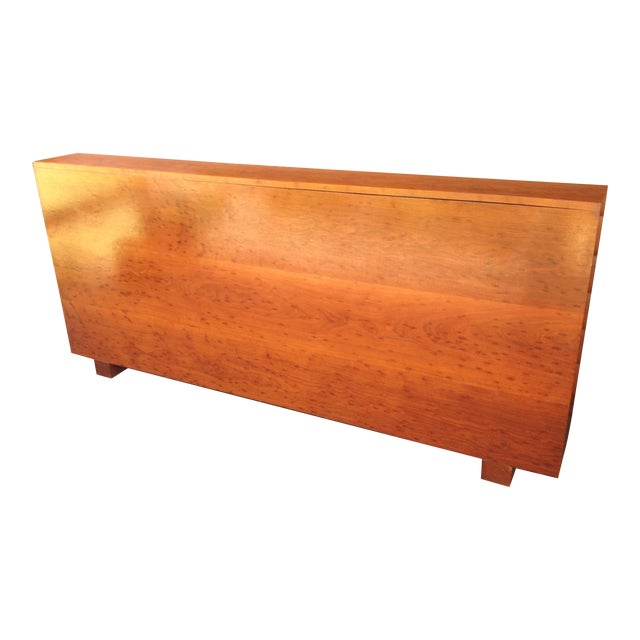 Architect's Pickle Mahogany Instrument Chest for King Headboard For Sale