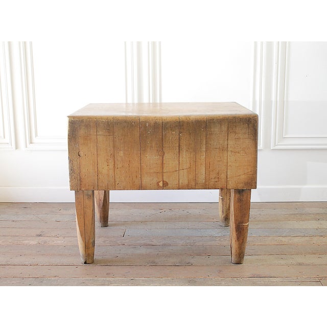 20th Century French European Butcher Block Table For Sale - Image 10 of 10