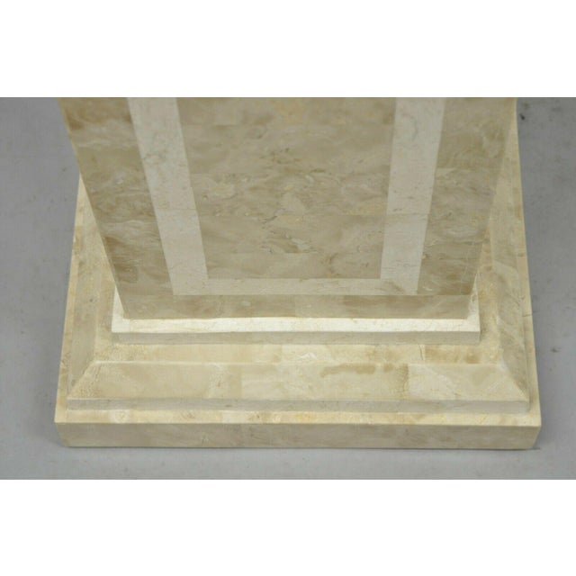 Late 20th Century Tessellated Stone Column Pedestal by Marquis Collection of Beverly Hills For Sale In Philadelphia - Image 6 of 9