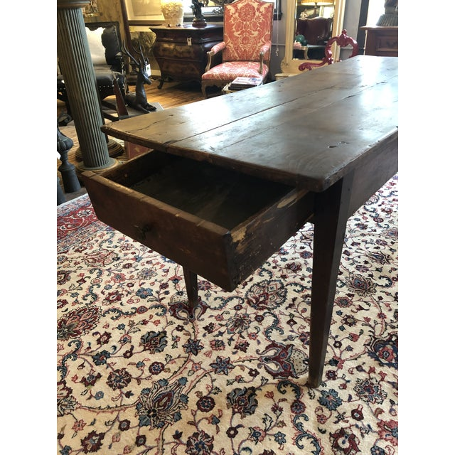 19th Century French Walnut Farm Table For Sale - Image 9 of 13