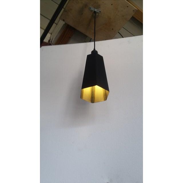 Art Deco Steel Sheet Metal Pendant Light For Sale - Image 3 of 5