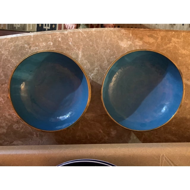 """Large """"Cloisonne"""" Enamel Bronze Bowl With Top For Sale In Austin - Image 6 of 10"""