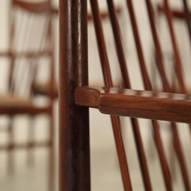 Arne Vodder set of 6 highback armchairs in rosewood, Denmark, 1960s - Image 6 of 7