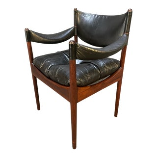 """Vintage Danish Mid Century Modern """"Modus"""" Rosewood Accent Chair by Kristian Vedel For Sale"""