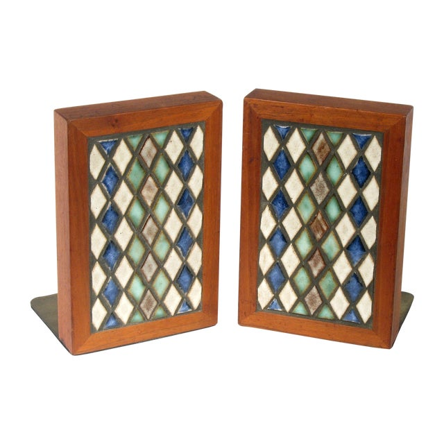 Marshall Studios Harlequin Bookends - Pair - Image 1 of 5