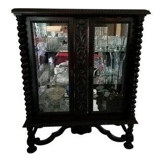 Jacaranda Wood Early 1900's China Cabinet For Sale