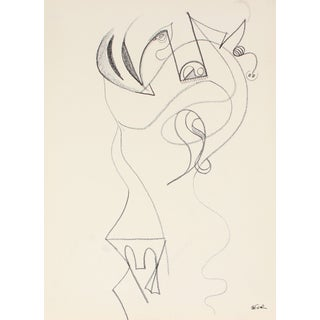 Whimsical 20th Century Abstract Drawing