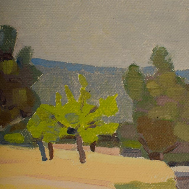"19th Century ""Spring Trees"" Expressionist Landscape Oil Painting by Ernest Yarrow-Jones For Sale In Philadelphia - Image 6 of 8"