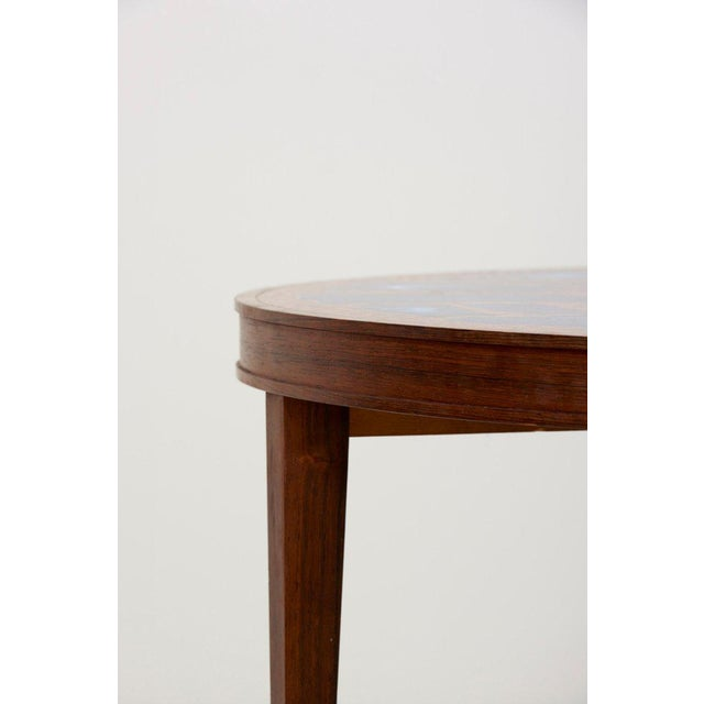Hollywood Regency Stunning Rare Wood Coffee Table With Copper and Enamel Top by Behr For Sale - Image 3 of 9