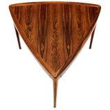 Image of Haug Snekkeri Triangular Rosewood Side Coffee Table For Sale